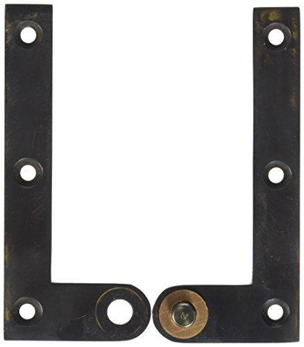 Deltana PH40U10B Solid Brass 4 3/8-Inch x 5/8-Inch x 1/4-Inch Pivot Hinge - Solid Brass Pivot Base