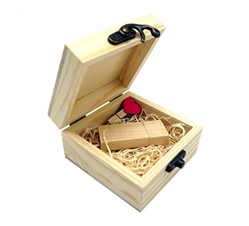 LONMAX Gift Wooden USB 2.0 Flash Drive Memroy - Flash Drive Wooden Box