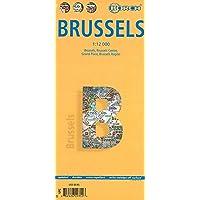 Bruselas, plano callejero plastificado. Escala 1:12.000. Borch.