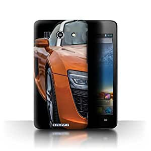STUFF4 Phone Case / Cover for Huawei G520 / Head Light/Orange Design / Sports Car Audi Collection