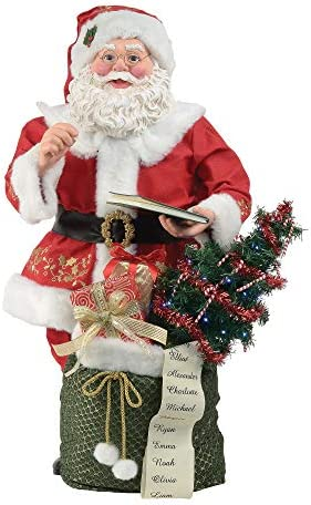 Department 56 Possible Dreams Santa Book Figurine, 39 Inch, Multicolor
