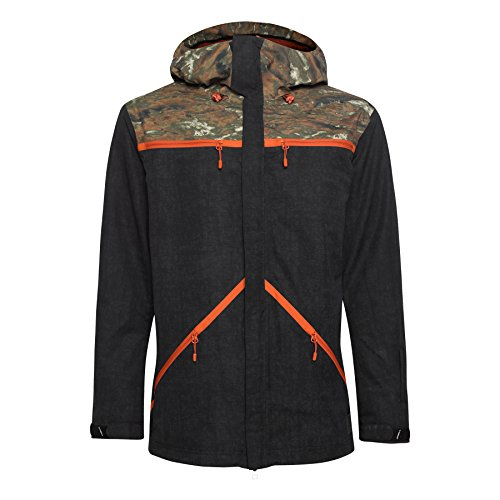 O'Neill Mens Quest Snow Jacket Large Black (Oneill Snow)