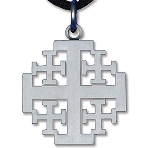Pewter Finished Jerusalem Cross ()