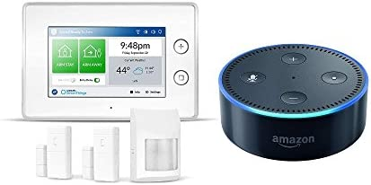 Echo Dot - Black + Samsung SmartThings ADT Home Security Kit