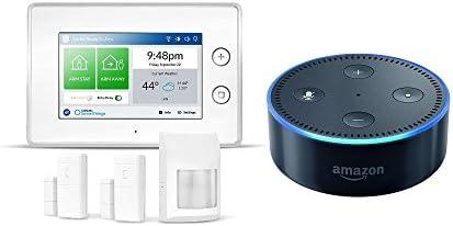 Echo Dot - Black + Samsung SmartThings ADT Home Security Kit