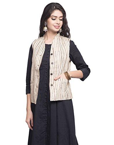 Fabindia Silk Textured Pocket Detail Jacket/XS (Textured Silk Jacket)