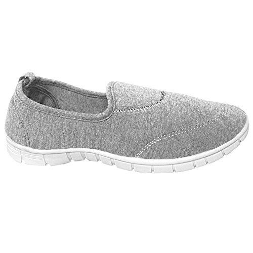 Dimensioni Donna Go Da Flessibile Pompe Vacanza Grigio Ginnastica Comfort Sports Walk Scarpe nw0H0Yqd