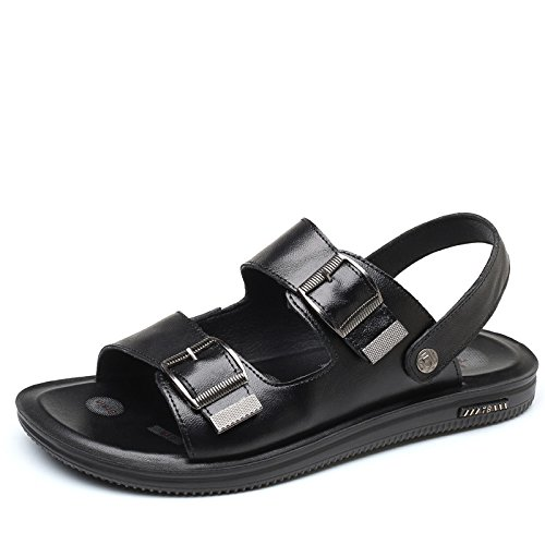 Pantofole Toe Scarpe da Moda Estate Uomo Open Scarpe da Sandali da Black Uomo Spiaggia vqxwYAX