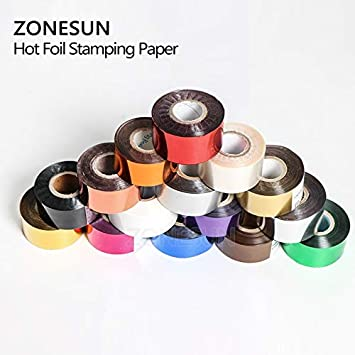Tool Parts WDN DIY Transfer Hot Stamping embossing bronzing Paper Hot Selling Hot Foil Stamping Colorful Heat Stamping Foil Film Color: 3cm black