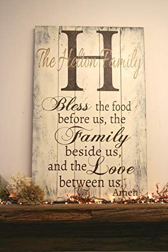 Amazon Com Bless The Food Before Us Pallet Plaque Sign Name Plaque