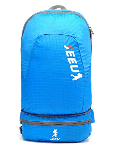 2-in-1-Lightweight-Sports-Backpack-20L-Packable-Durable-Daypack-Waist-Bag
