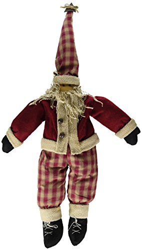 Papier Mache Bell (Craft Outlet Silly St. Nick Santa in Plaid Figurine, 18-Inch)
