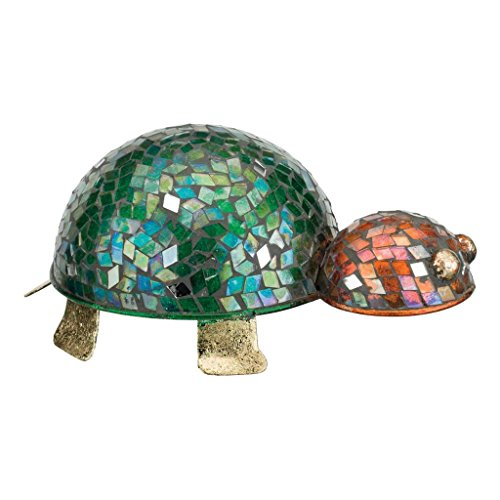 Regal Art & Gift 8 Inches x 5 Inches x 4 Inches Metal Turtle Decor Mosaic Glass -