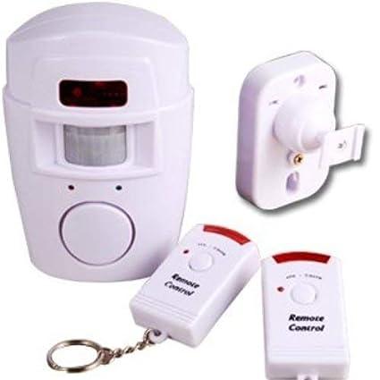Surepromise - Sensor de movimiento con 2 mandos a distancia para casa y caravana (alarma