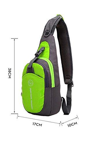 HONEYJOY Casual Cross Body bag Outdoor ,Sling Bag - Small Crossbody Street/Travel Backpack for Men & Women (Medium, Green)