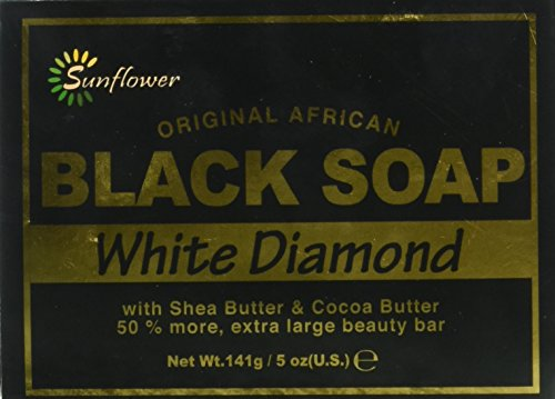 - Sunflower Black Soap, White Diamond, 5 Ounce