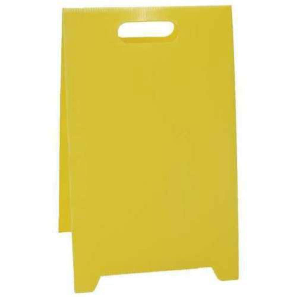 Blank Floor Stand Safety Sign,12 x 20 Yellow