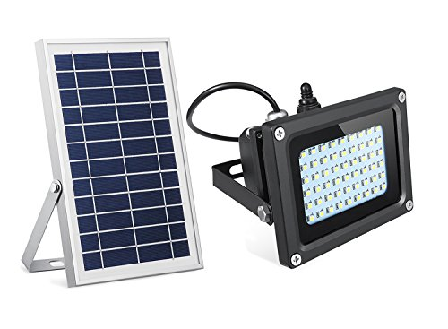 SEMILITS Solar Flood Lights 54 LED 500 Lumens 6W Solar Panel Outdoor Solar Light Waterproof Security Light for Garden Garage Lawn Pool Fencing Pathway ()