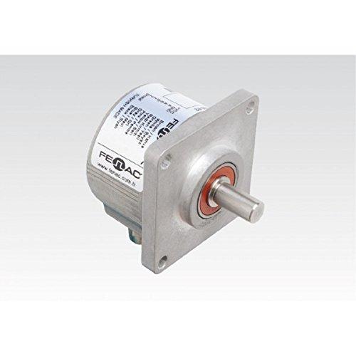 Fenac FNC 63K 10630V100-R2 Incremental Encoder 63mm Body Diameter, Square Flange(36mm clamp), 10mm Solid Shaft, 6 Channel, 5-30V in/Out, 100PPR, 2m Cable
