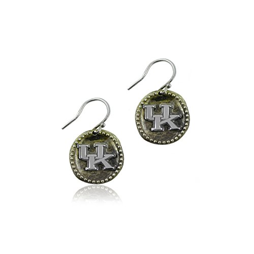 University of Kentucky Wildcats UK Sterling Silver Jewelry by Dayna Designs (Antique Coin Earrings)