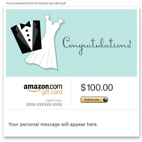 Amazon eGift Card - Wedding (Dress and Tux)