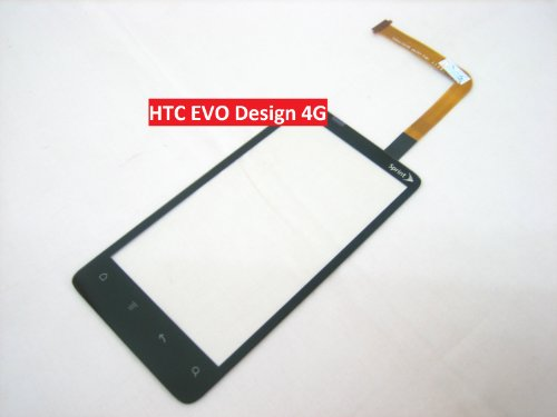 HTC EVO Design 4G Sprint, Touch Screen Digitizer Front Outer Glass Faceplate Lens Part Panel Pad, Mobile Phone Repair Parts Replacement