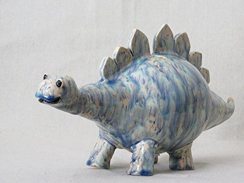 Dinosaur Blue Stegosaurus Coin Bank (ST112)