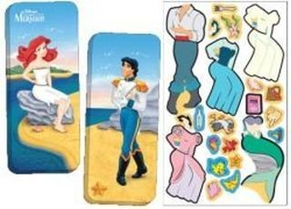 Up Dolls Dress Mermaid - Magnetic Paper Dolls Travel Tin - The Little Mermaid, Assorted