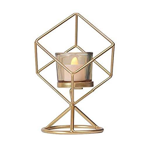 No-Branded EACHPT portavelas geométrico candelabros Decorativos de Velas Vintage Metal portavelas de Hierro Forjado…