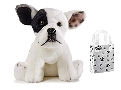 "GUND Jonny Justice Dog Stuffed Animal Plush, 8"" & Gift Bag Bundle Set"