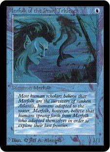 英語版 リミテッド・エディション・アルファ Limited Edtion Alpha LEA 真珠三叉矛の人魚 Merfolk of the Pearl Trident マジック・ザ・ギャザリング mtg