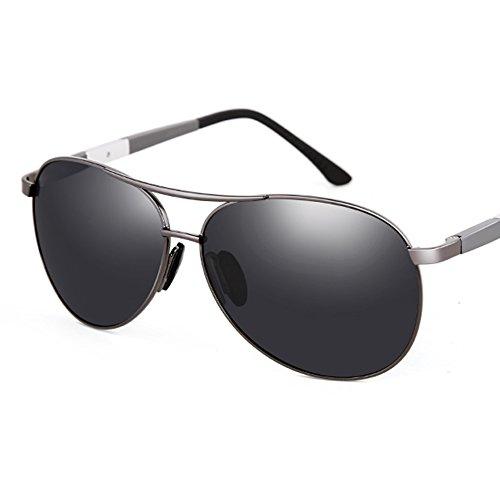 Black Lunettes Gray pour Conduisant Le en Hommes Miroir du UV TESITE 100 Soleil Verres PolariséS Conducteur De Aluminium MagnéSium A0T0wU