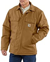 Carhartt Men's Flame Resistant Quilt-Lined Duck Traditional Coat Big And Tall Carhart Brn Large Tall