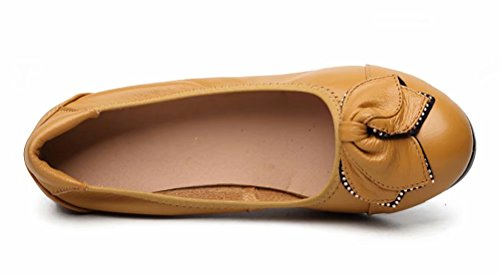 Off Pump 66 Camel Leather Sketo Women's Heeled Genuine up Low to Wedge Comfort 1Pqqv0xw