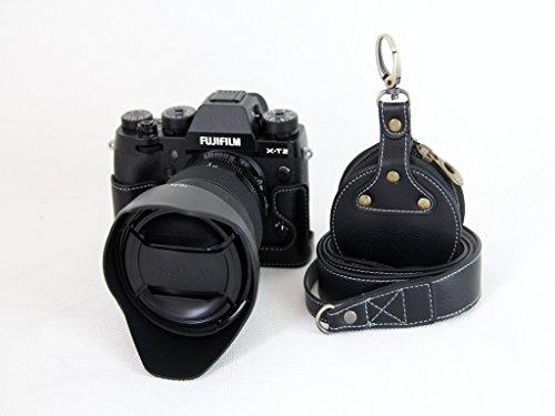 X-T2 X-T3 Case, BolinUS Handmade Genuine Real Leather Half C