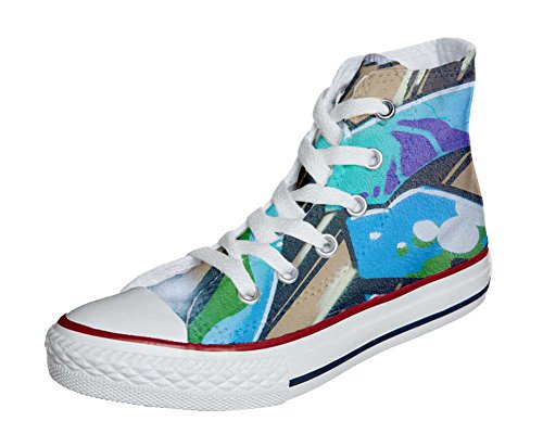 Converse All Star Hi Customized personalisierte Schuhe (Handwerk Schuhe) Graffiti