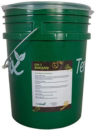 TeraGanix Bokashi EM-1 Organic Rice Bran Mix | 22lbs. - Dry Powder to Compost Food & Pet Waste Indoors for Better Planting Soil by TeraGanix (Image #1)