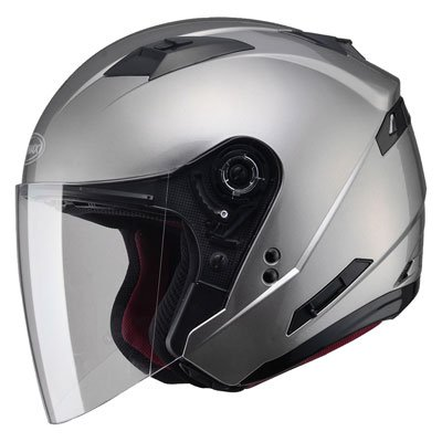 (GMAX OF77 Mens Open Face Street Motorcycle Helmet - Titanium)