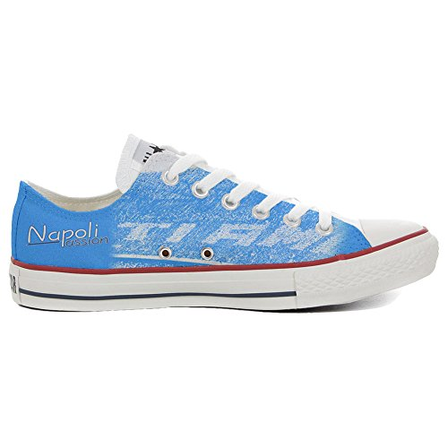 Converse Customized Chaussures Coutume (produit artisanal) Slim Napoli Passion