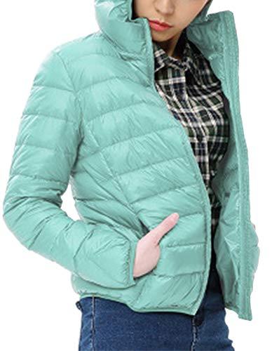 Femme Warm 1 Bleu Blouson Fit Hiver Coat Doudoune Taille Grande Slim Quilting Capuchon Manteau 8w78xO