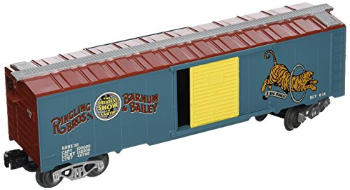 Bachmann Industries Ringling Bros. and  Barnum & Bailey 40' Box Car 33 Tiger O Scale Train -