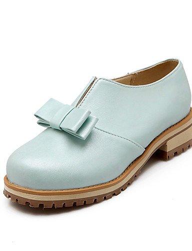 GGX/ Damen-High Heels-Outddor / Lässig-PU-Niedriger Absatz-Komfort / Rundeschuh-Blau / Rosa / Weiß blue-us9.5-10 / eu41 / uk7.5-8 / cn42