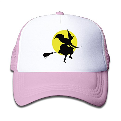 Happy Halloween Day Wizard Baseball Caps For Kids Pink (3 -
