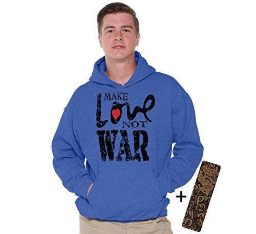 make love not war hoodie - 1