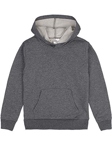Spring&Gege Youth Solid Pullover Sport Hoodies Soft Kids Hooded Sweatshirts for Boys and Girls Oxford Grey Size 11-12 Years