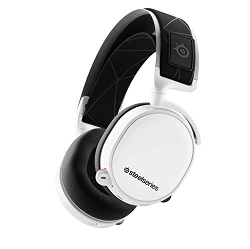 SteelSeries Arctis 7 (2019 Edition) Lossless Wireless Gaming Headset with DTS Headphone:X v2.0 Surround for PC and PlayStation 4 - White ()