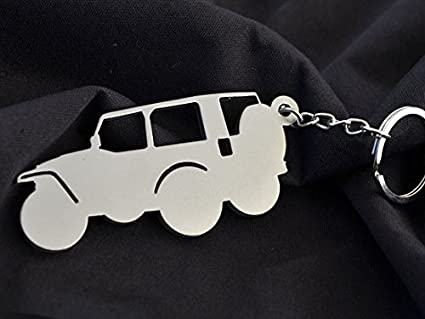 Custom Stainless Steel Keychain for Jeep Wrangler Enthusiasts
