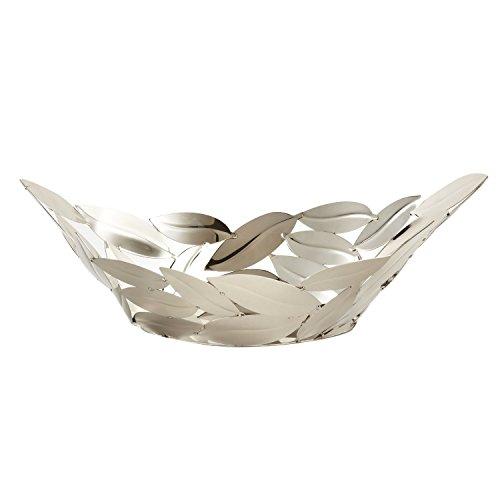 - Elegance Nickel Plated Oval Leaves Boat, 15.5