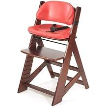 Keekaroo Height Right Kids High Chair with Comfort Cushions, Mahogany/Cherry