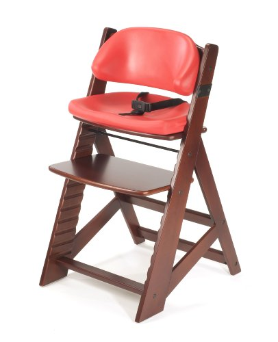 Keekaroo Height Right Kids High Chair with Comfort Cushions, - Chair High Mahogany
